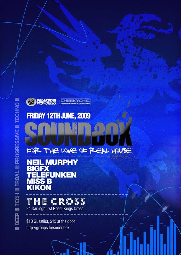 Soundbox feat Telefunken - Flyer front
