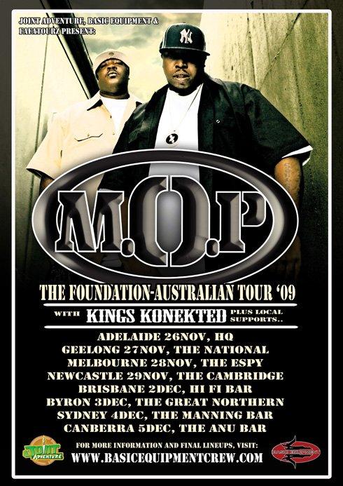 Mop - Foundation Tour - Flyer front