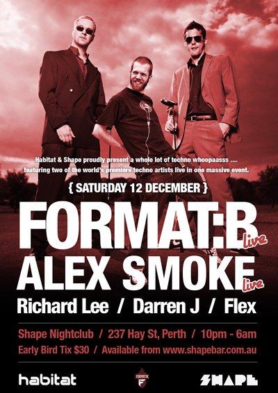 Habitat presents Format:b Live & Alex Smoke - Flyer front