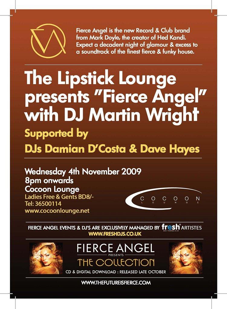 Fierce Angel - Flyer back