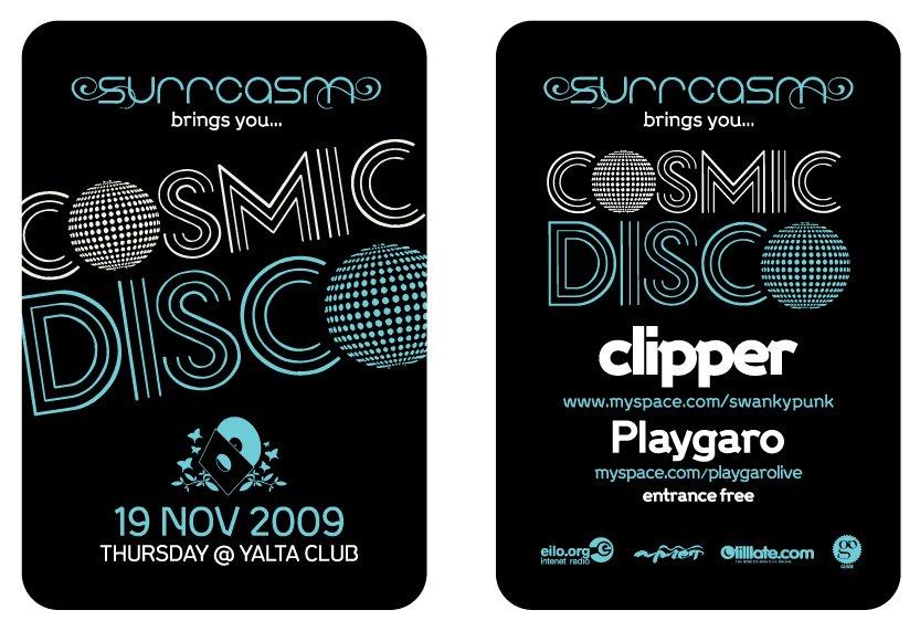 Cosmic Disco Night - Flyer back