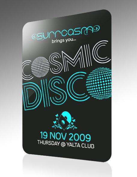 Cosmic Disco Night - Flyer front