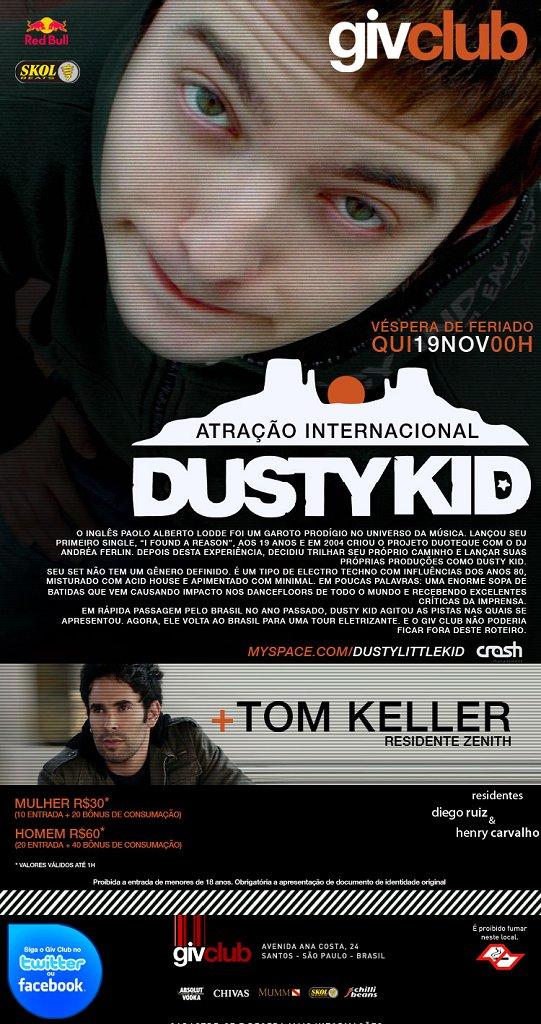 Dusty Kid & Tom Keller - Flyer front