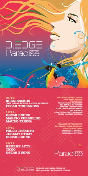 Paradise After-Hours - Flyer front