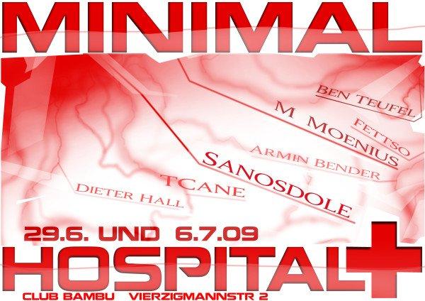 Minimal Hospital Ii - Flyer front