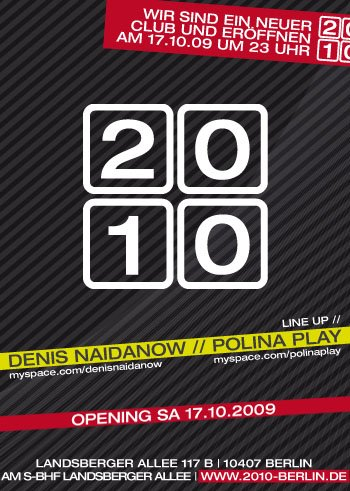 2010 Opening - Flyer front