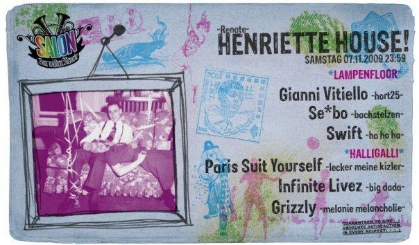 Henriette House - Flyer front