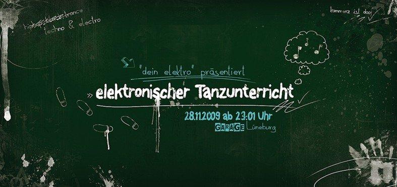 Elektronischer Tanzunterricht - Flyer front