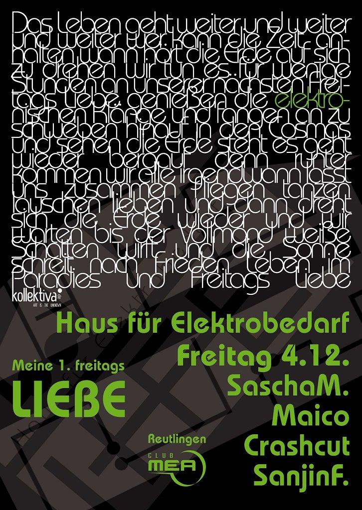 Haus Für Elektrobedarf Pres. 'liebe' Vol 2 - Flyer front