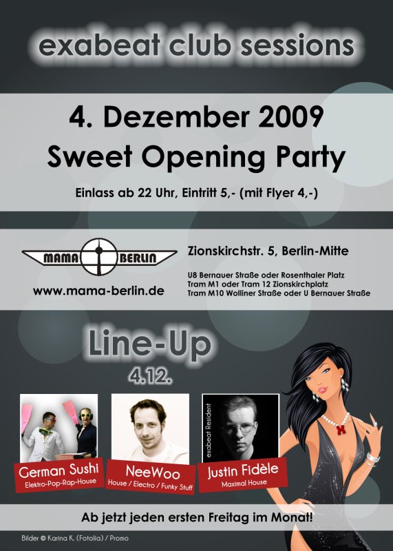 Exabeat Club Sessions – Grand Opening - Flyer back