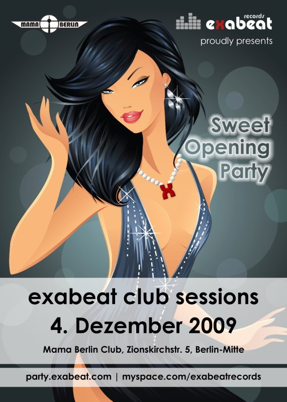 Exabeat Club Sessions – Grand Opening - Flyer front