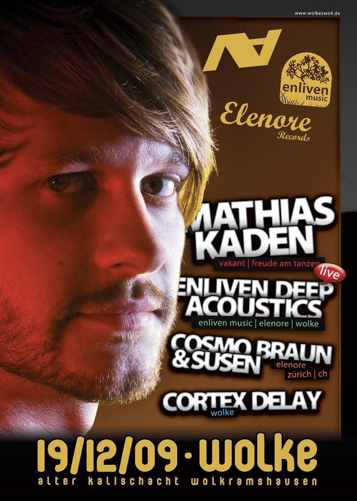 Mathias Kaden Studio 10 Albumtour - Flyer front