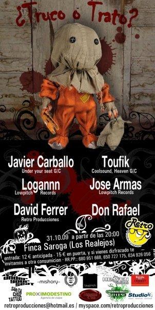 Retro Producciones Halloween Party - Flyer front