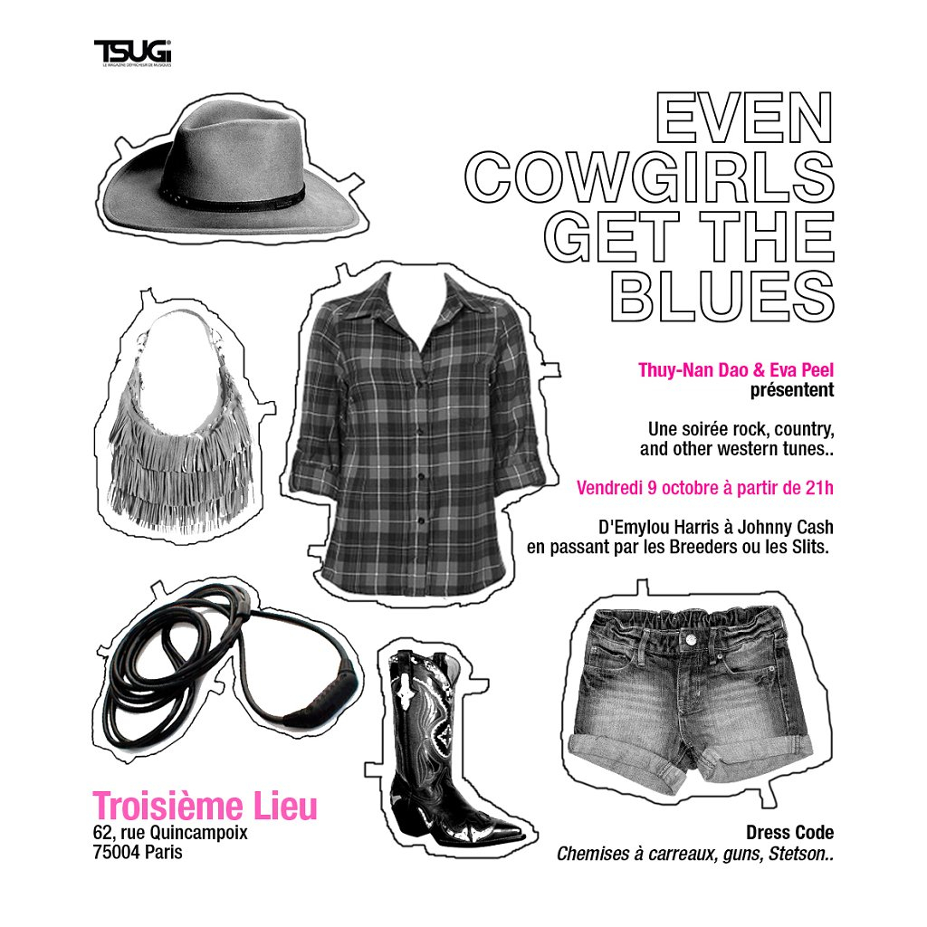 Even Cowgirls Get The Blues - Flyer front