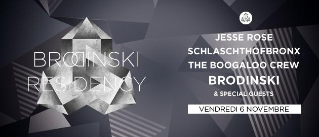 Brodinski Residency - Flyer front