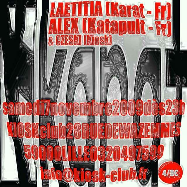 Laetitia / Alex - Flyer front