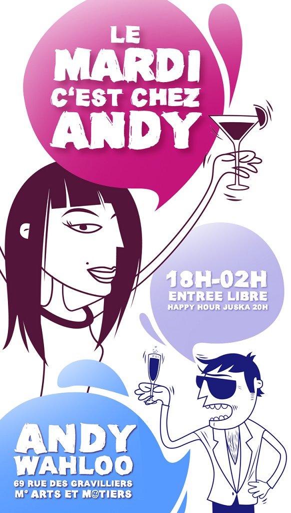 Mardi Chez Andy - Flyer front