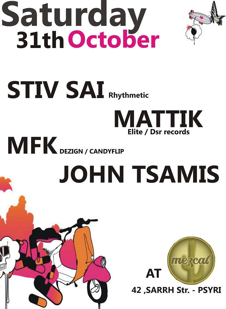 Stiv Sai, Mattik, Mfk, & John Tsamis - Flyer front