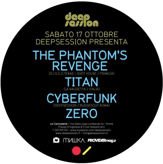 Deepsession presents: Discodeep with Titan & The Phantom'Sm's Revenge - Flyer back