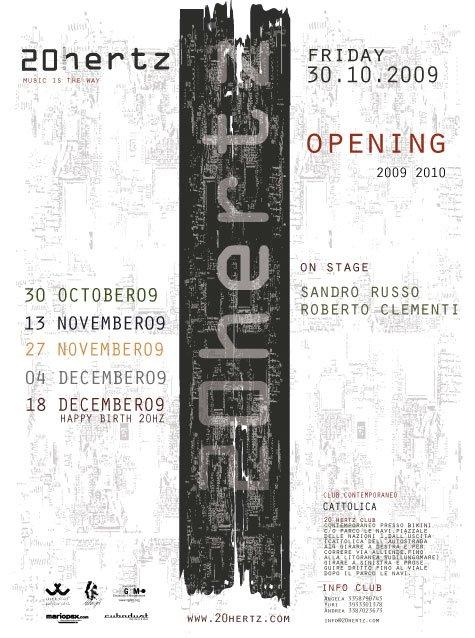 Opening Winter Season 09 - Flyer front