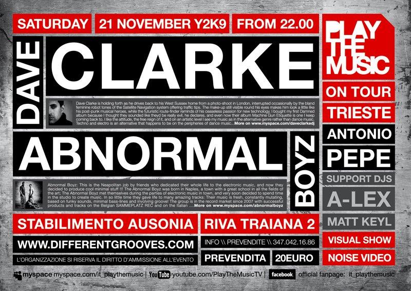 Dave Clarke - Flyer back