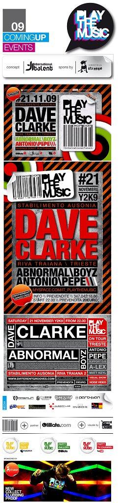 Dave Clarke - Flyer front