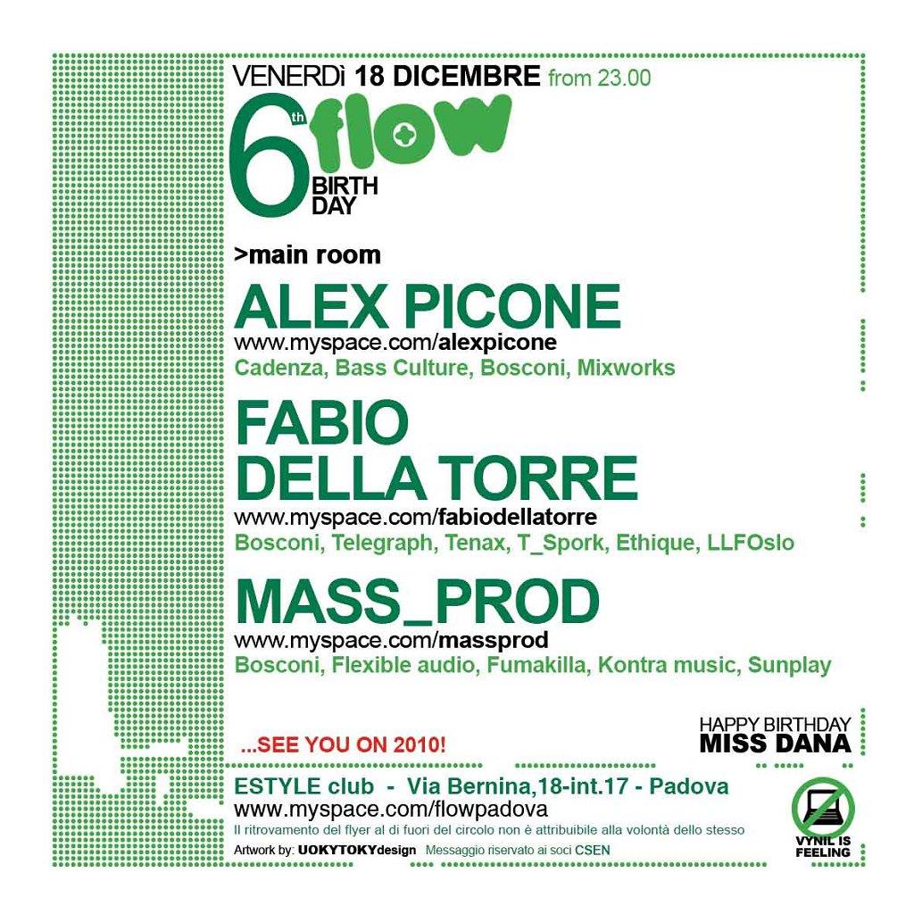 Bosconi Showcase at 6th Flow Birthday - Flyer back