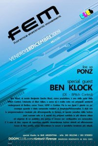 F.E.M - Florence Eletronic Movement Night - Flyer front