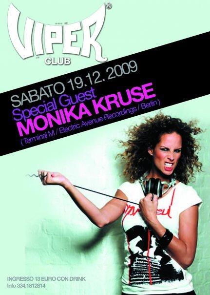 Viper Club 100% Monika Kruse - Flyer front