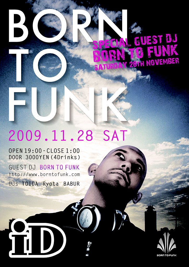 Born To Funk - Flyer front