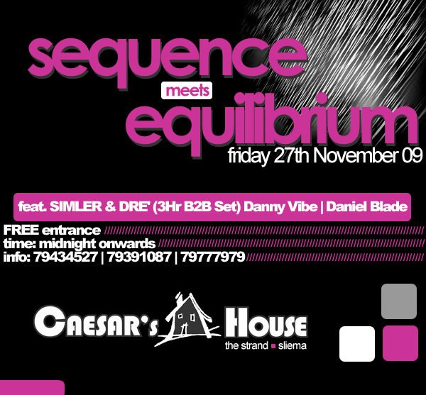 Sequence Meets Equilibrium - Flyer front