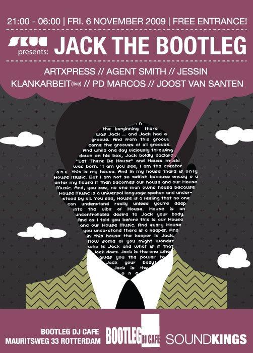 Skug presents: Jack The Bootleg - Flyer front