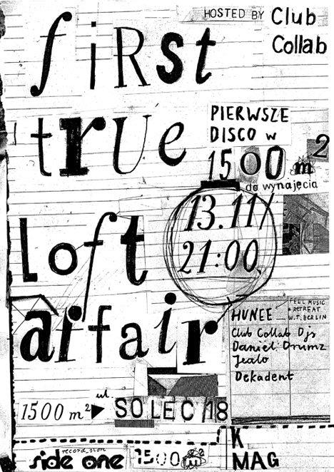 1st True Loft Affair: Hunee - Flyer front
