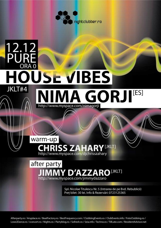 House Vibes Aka J.K.L.T. #4 with Nima Gorji - Flyer front
