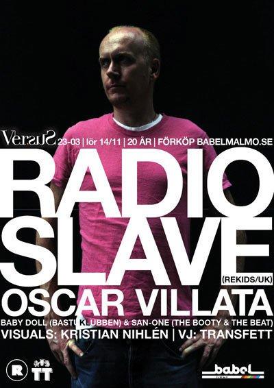 Versus feat Radio Slave - Flyer front