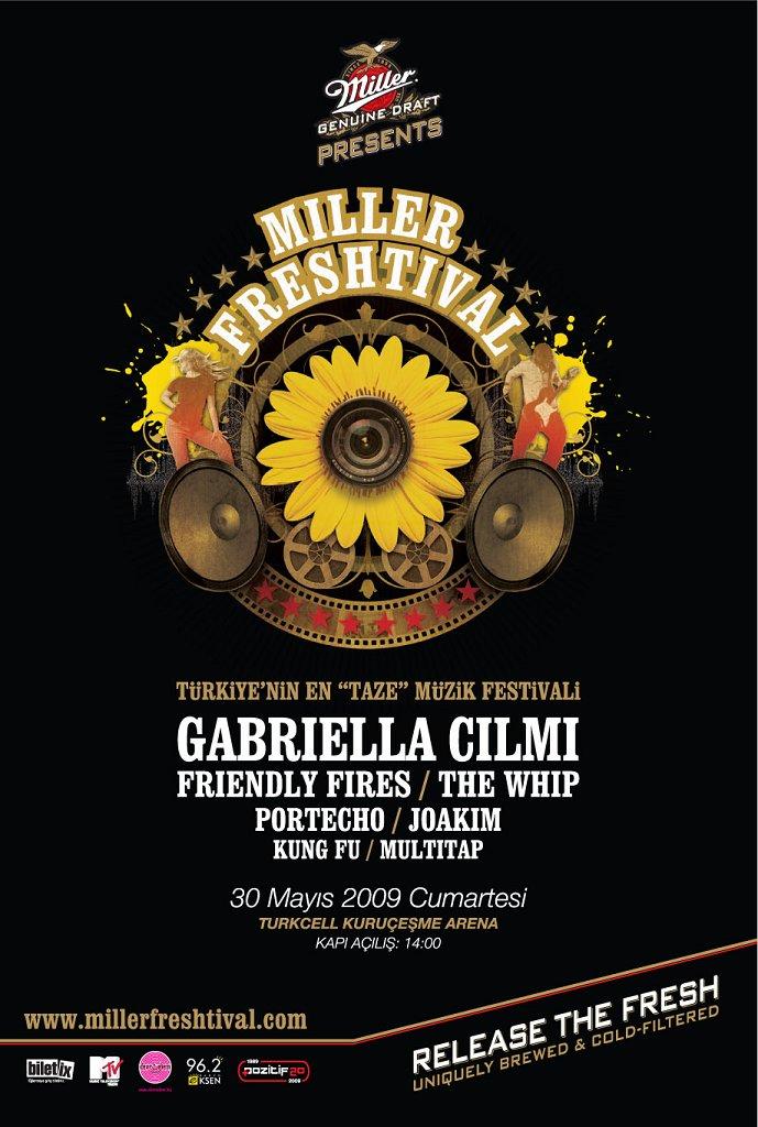 Miller Freshtival - Flyer front