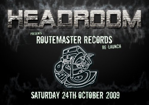 Routemaster Records Re-Launch - Flyer front
