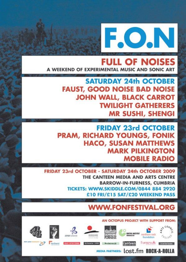 F.O.N (Full Of Noises) Festival - Flyer front