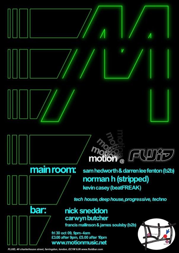 Motion, Farringdon - Sam Hedworth & Darren Lee Fenton - Flyer front