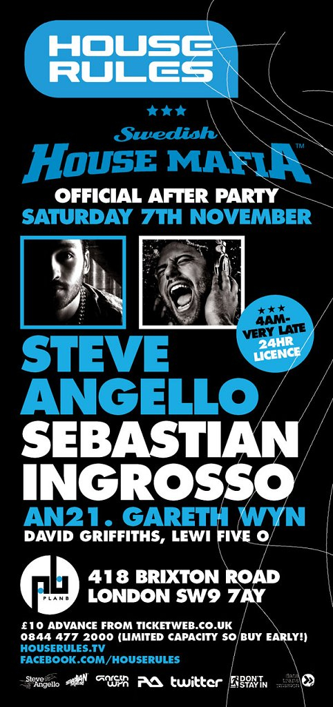 Official Swedish House Mafia After Party - Flyer front