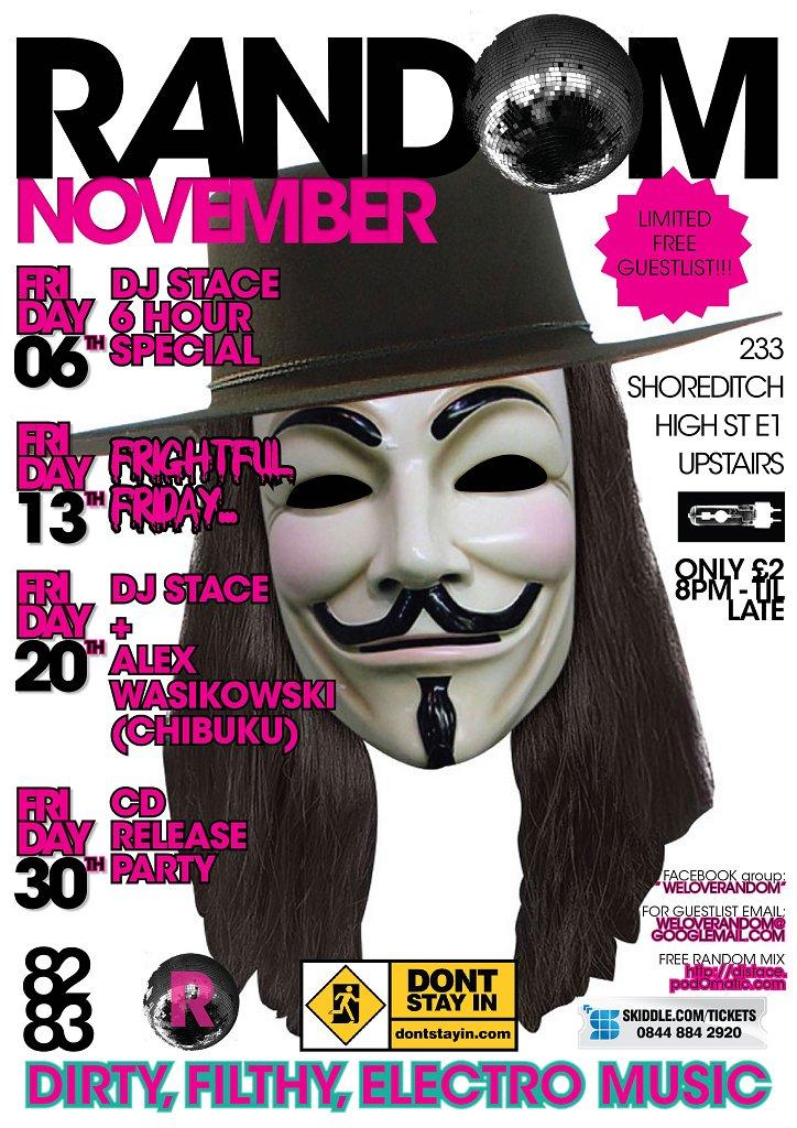 Random - Ooooohh Friday 13th Fun - Flyer front