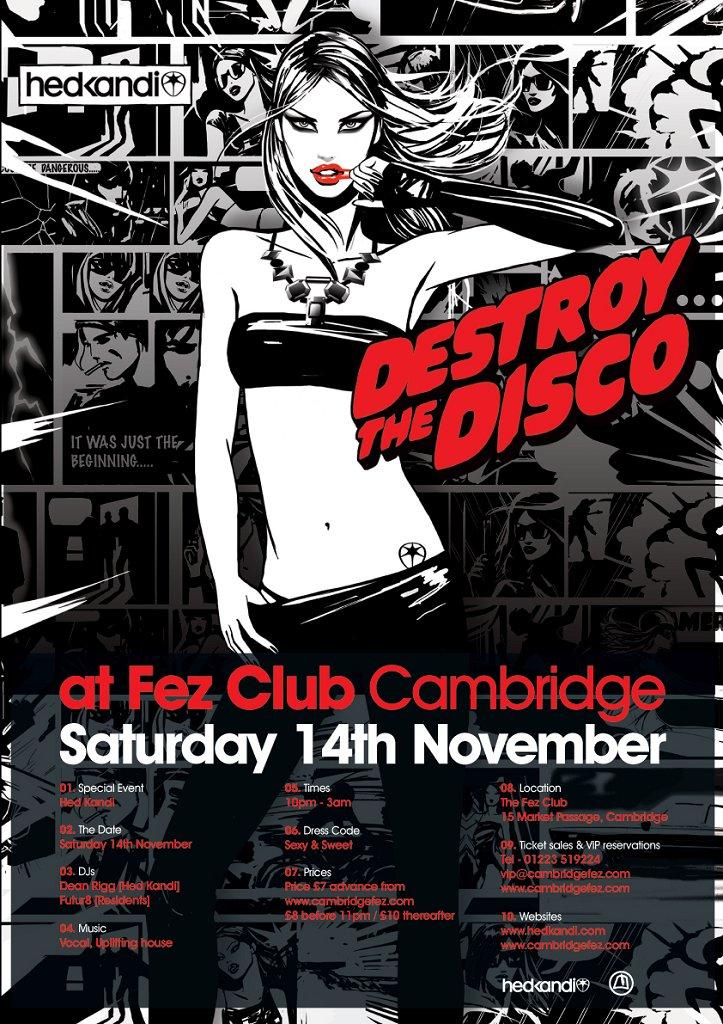 Hed Kandi - Destroy The Disco - Flyer front
