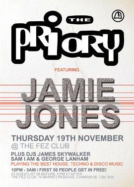 The Priory with Jamie Jones - Flyer front