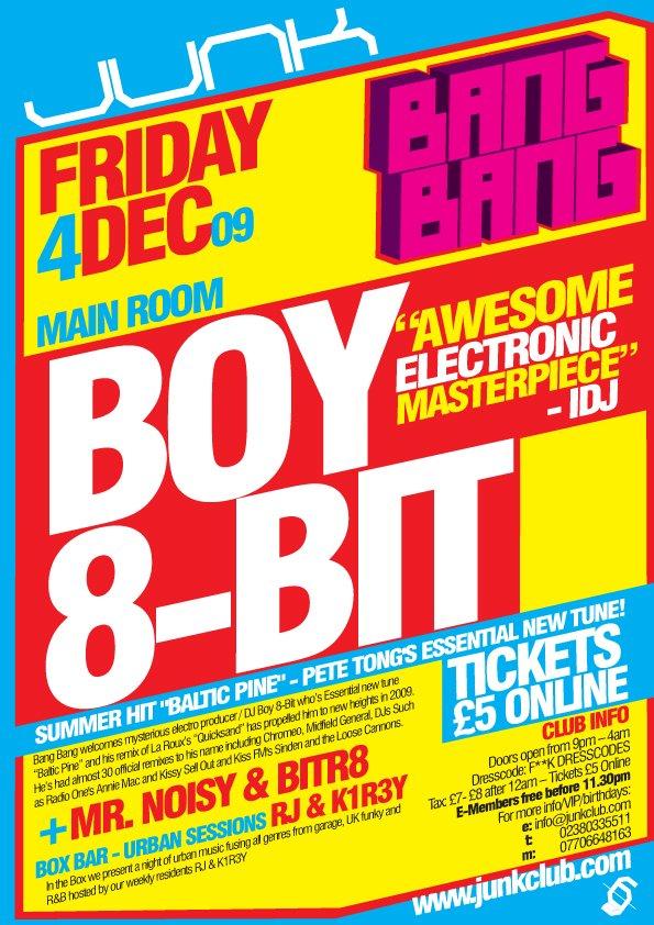 Bang Bang presents Boy 8-Bit - Flyer front