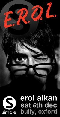 Erol Alkan For Simple At The Bully - Flyer front