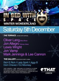 In Bed with Space 'Winter Wonderland' London - Flyer front