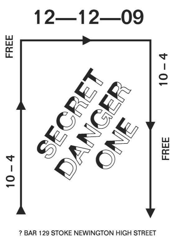 Secret Danger #1 - Flyer front