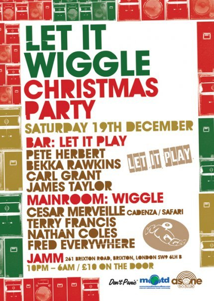 Let It Wiggle Christmas Party - Flyer front