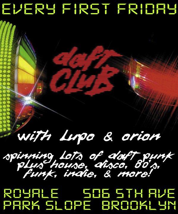 Daft Club - Flyer front