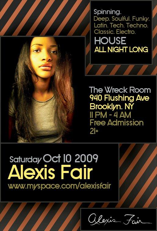 Alexis Fair - Flyer front